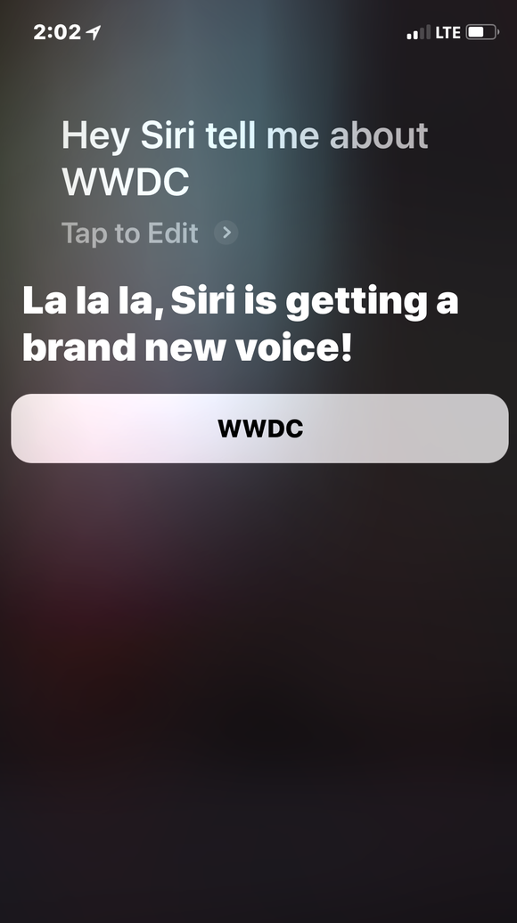 Apple's tease for a new Siri voice on Monday has been replaced.