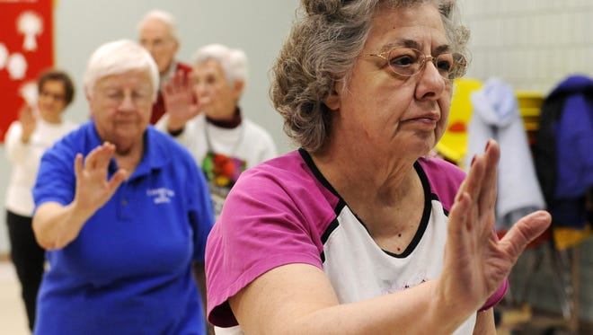 Tai Chi participants at Manitowoc Senior Center.