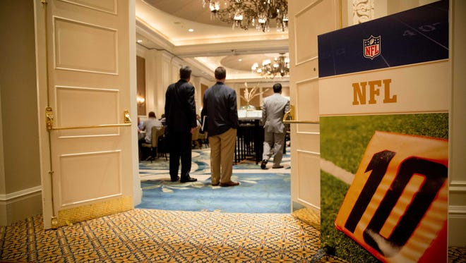 A general view outside of one of the rooms used for the NFL Annual Meetings.
