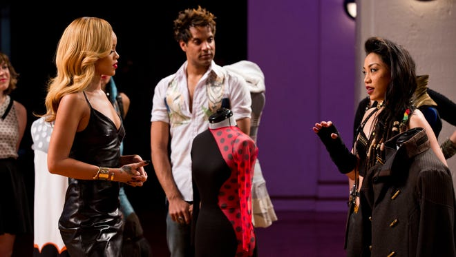 Rihanna, left, Adam Christoffel and Cecilia Aragon in 'Styled to Rock.'
