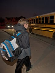Many kids will be getting on the school bus in the dark for the next few weeks.