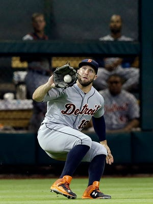 """I think the biggest hurdle, which he is in the process of jumping over, is he'd attack the game of baseball like a football player instead of letting the game come to him,"" Tigers manager Brad Ausmus said of Tyler Collins."