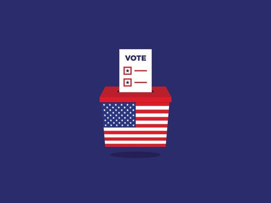 USA Election ballot vote box