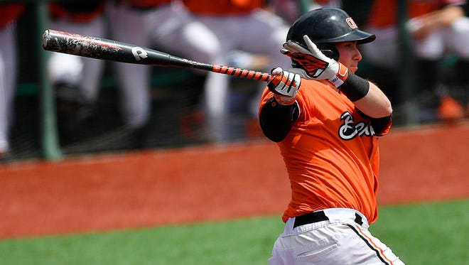 Oregon State catcher Logan Ice in the Pac-12 Defensive Player of the Year.