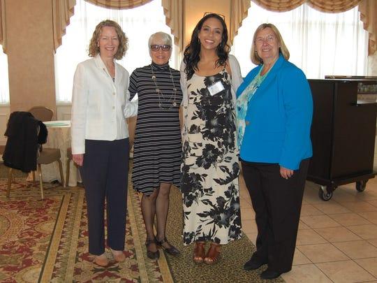 Left to right: Debra Schrek, MSN,RN-Teaching Administrator in Nurse Education at Warren County Community College; Therese Steinhardt-Member, Board of Trustees, Community VNA; Lais Parichuk-Award recipient; Alyce Brophy-President/CEO, Community VNA
