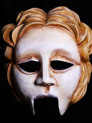Greek theater Amphytrion mask called Alcemna by Jonathon Becker.
