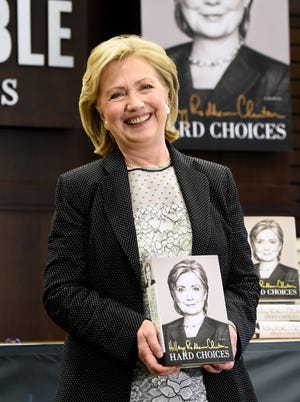 Hillary Rodham Clinton attends a book signing for her memoir 'Hard Choices.'