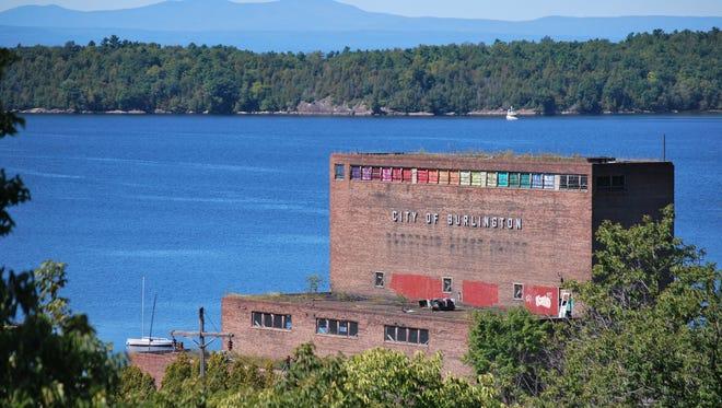The Moran Plant near Waterfront Park overlooking Lake Champlain in Burlington on Sept. 17.