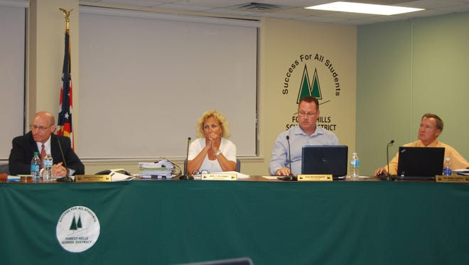The Forest Hills Board of Education discussed several facility options for a November ballot during a special June 19, 2014 meeting. Photo taken June 19, 2014.