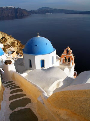 A visit to the Greek isle of Santorini should be less expensive this year, due to the nation's economic crisis.