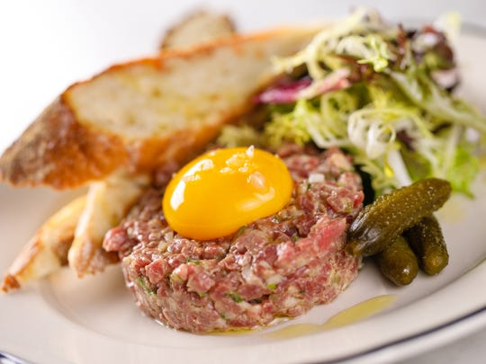 Steak tartare will be one of the rustic dishes served at The French, set to open Jan. 20 in downtown Naples.