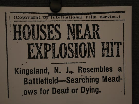 Headline from a local newspaper reporting on the fire.