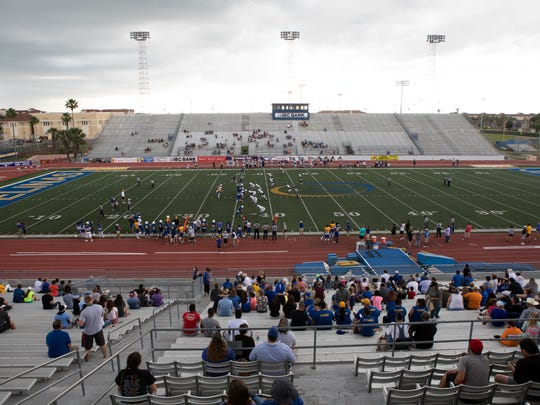 Texas A&M Kingsville hosted their annual spring game at Javelina Stadium on Saturday, April 22, 2017.