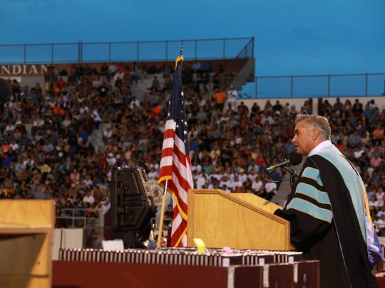 Ysleta High School class of 2017 held its graduation at the Hutchins Stadium