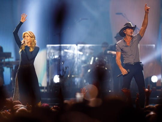 Faith Hill and Tim McGraw perform Saturday, June 10,