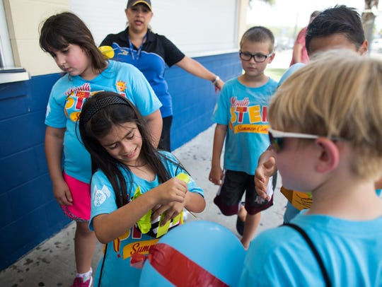 Texas A&M Kingsville's STEM camper 7-year-old Benay