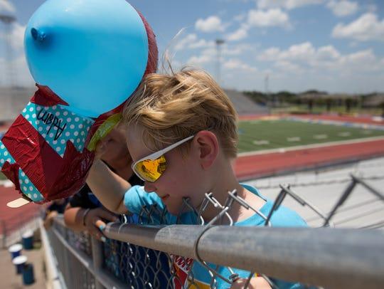 Texas A&M Kingsville's STEM camper Adam Shipman drops