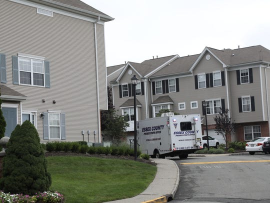 The townhouse development where the crime occurred