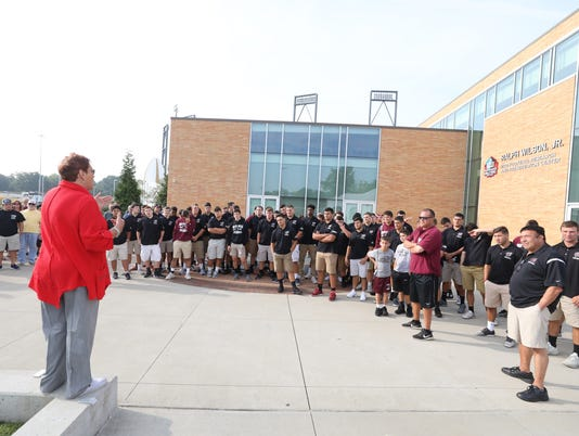 Wayne Hills football travels to Canton, Ohio to play against McKinley-Canton. Before tomorrow night's game the team toured teh Pro Football Hall of Fame.