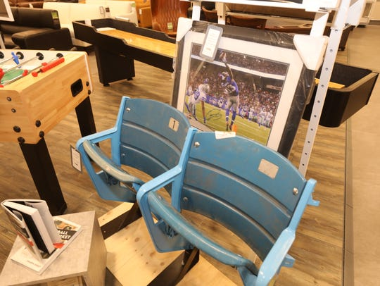 A pair of seats from the former Yankee Stadium on sale
