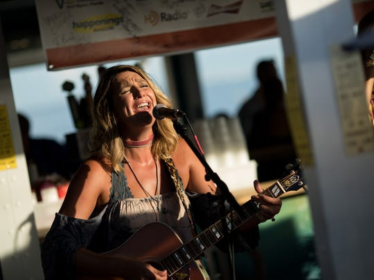 Ashley Gearing performs at Pierside, a Fort Myers Beach restaurant, during the 2016 Island Hopper Songwriter Fest.