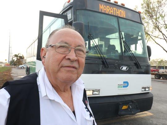Miami-Dade Transit Wilfredo Rocha waits for passengers
