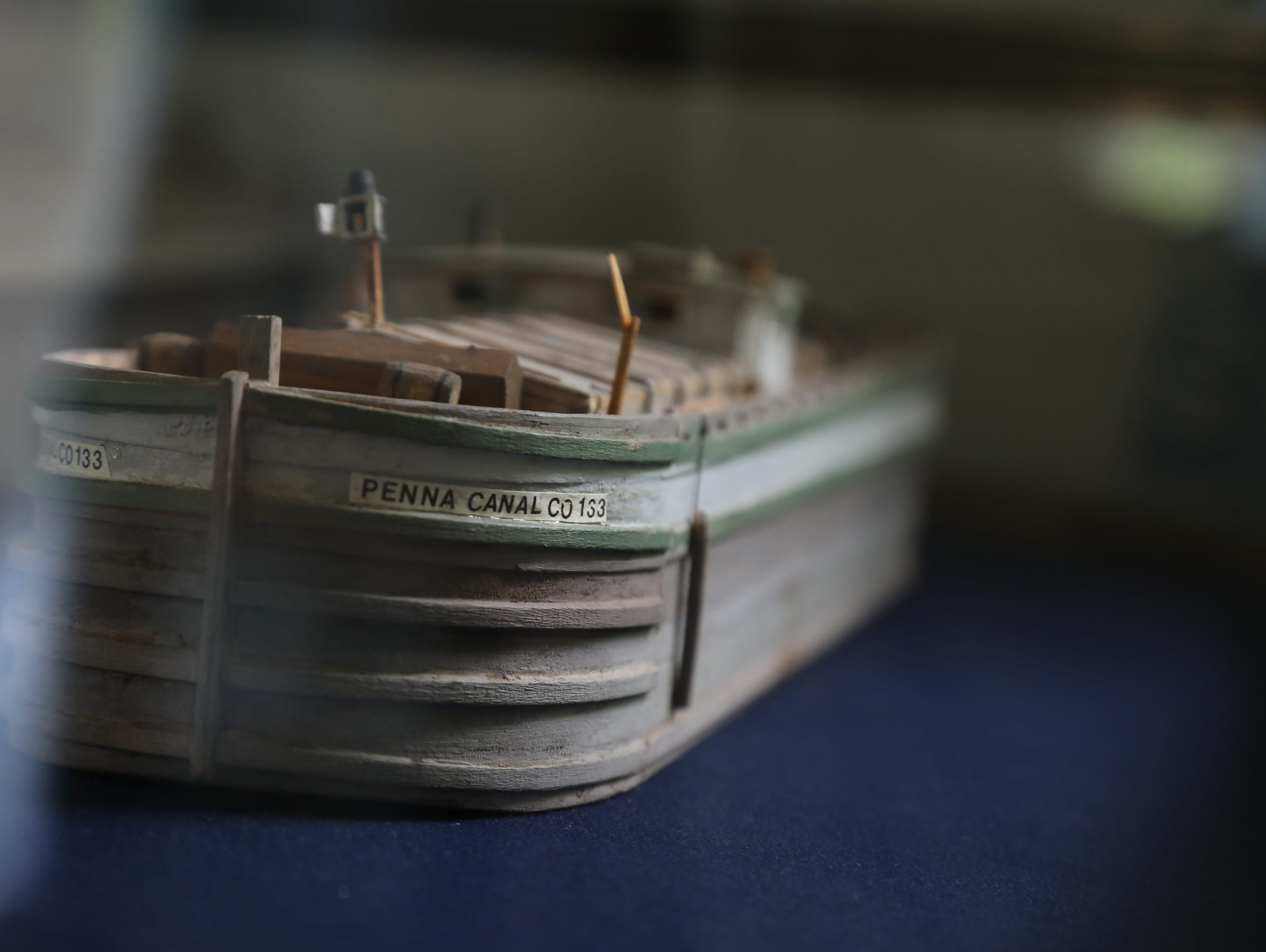 A model of one of the canal boats in the museum of