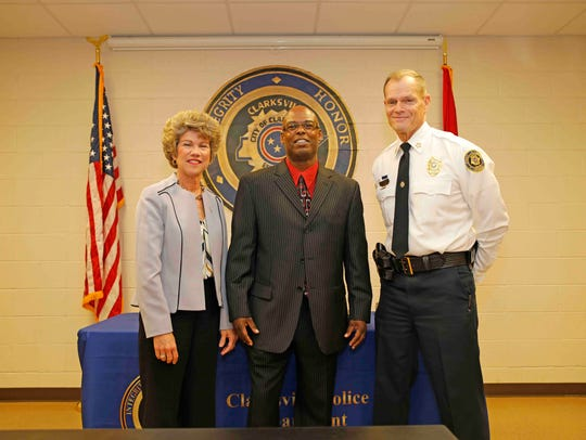 Mayor Kim McMillan and Clarksville Police Chief Al