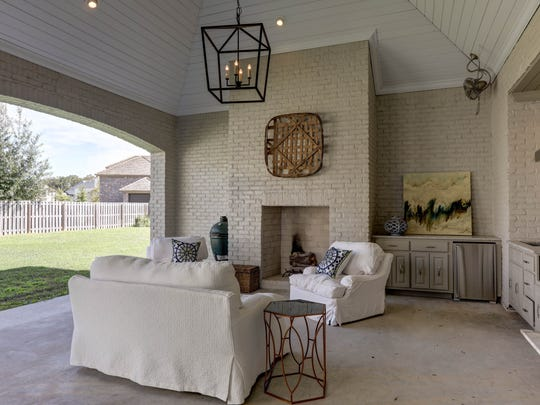 There is plenty of outdoor space for entertaining.