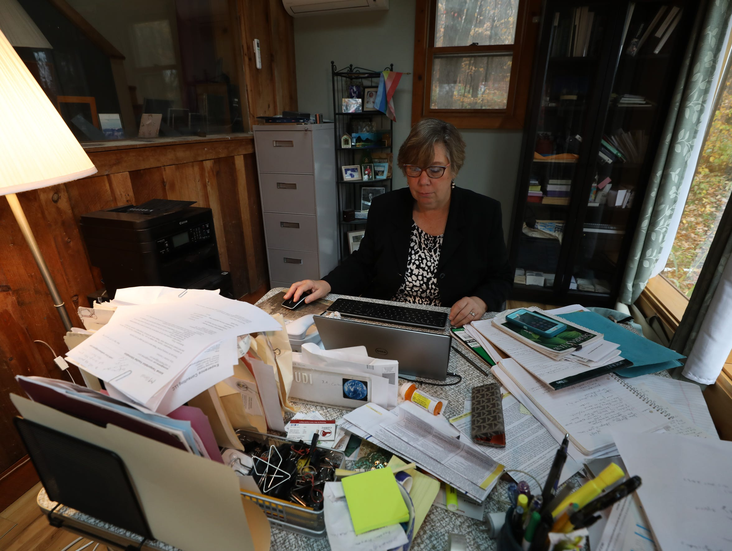 Former U.S. Environmental Protection Agency Regional Administrator for District 2, Judith Enck, in her home office, where she was interviewed about DuPont's pollution in Pompton Lakes.