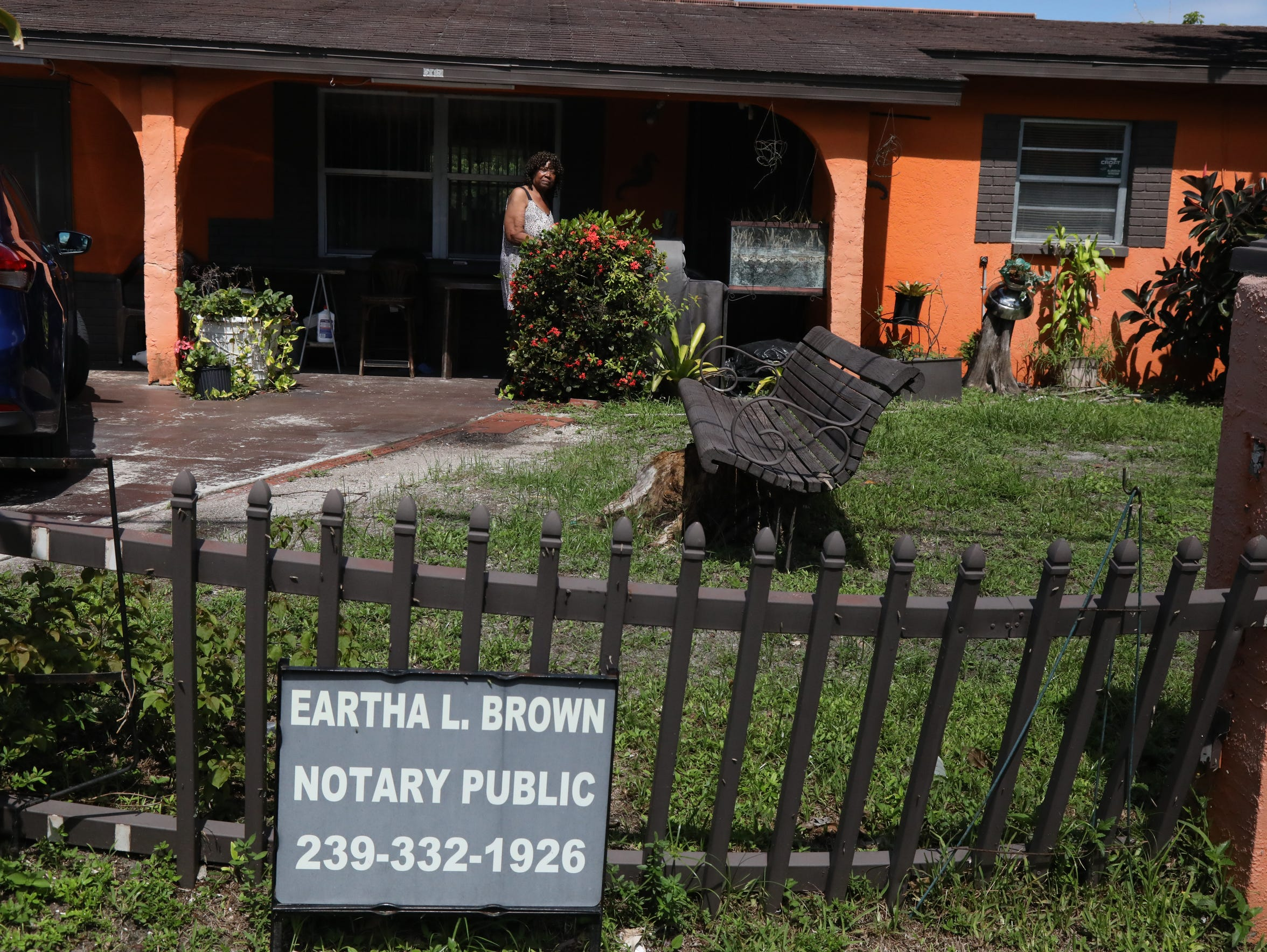 Eartha Brown lives two streets from the City of Fort
