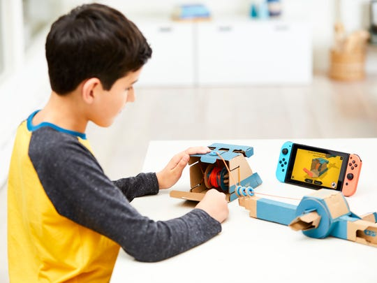 Nintendo Labo Variety Kit can be used to construct a fishing rod to interact with the Nintendo Switch.