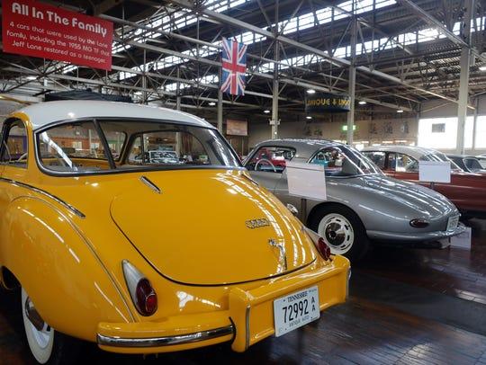 A 1958 DKW Auto Union 1000, far left, a 1958 DKW Monza,