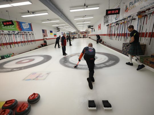 """The club's refrigerated shed has space for only two sheets of ice, so it can accommodate only two rock hurlers at a time. """"You won't find a smaller curling club than this,"""" said Dean Gemmel, a member who won the U.S. men's championship in 2012."""