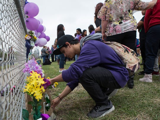 King High School students and faculty gather Wednesday,