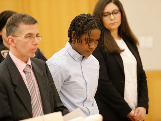 Z'inah Brown of New Rochelle appeared at the Westchester County Courthouse on April 3, 2018, in connection to the murder of Valaree Schwab in January.