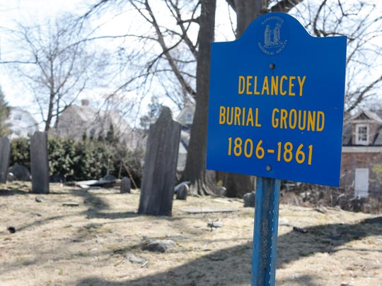 The DeLancey Family Burial Ground in Mamaroneck.