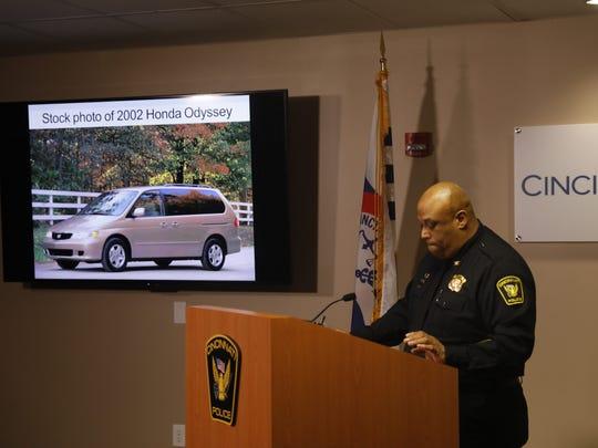 Cincinnati Police Chief Eliot Isaac speaks to reporters