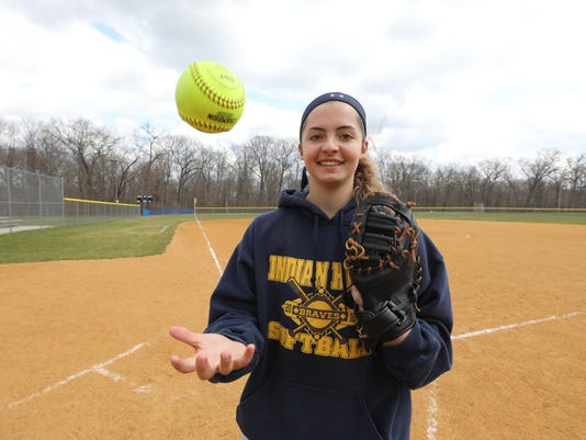 Sarah Strocker plays first base for Indian Hills softball and is the On Deck featured player.