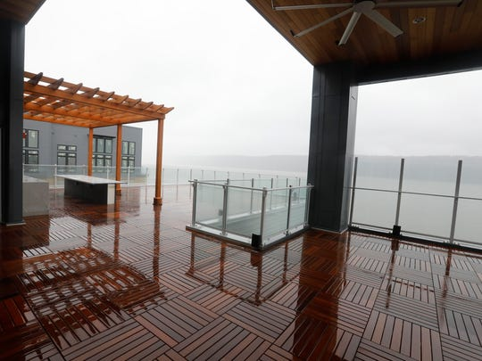 The sundeck at the Modera in Yonkers on April 16, 2018.