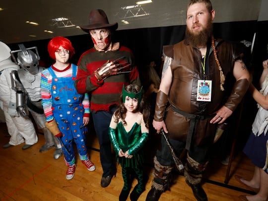 Fans dress as a range of comic book and film characters at Hudson Valley Comic Con at the Gold's Gym in LaGrange last year.