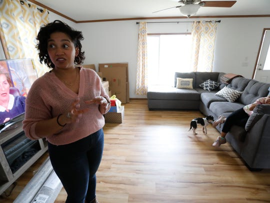 Melissa Lugo at her new home in Cortlandt on April