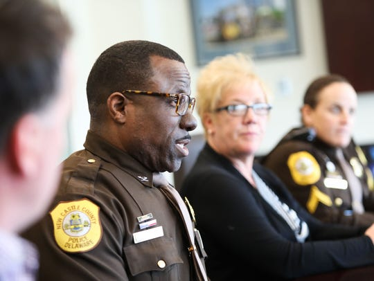 New Castle County Chief of Police Col. Vaughn Bond Jr. speaks about the department's partnership with Connections.