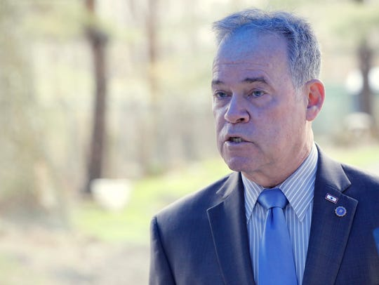 Rockland County Executive Ed Day held a press conference