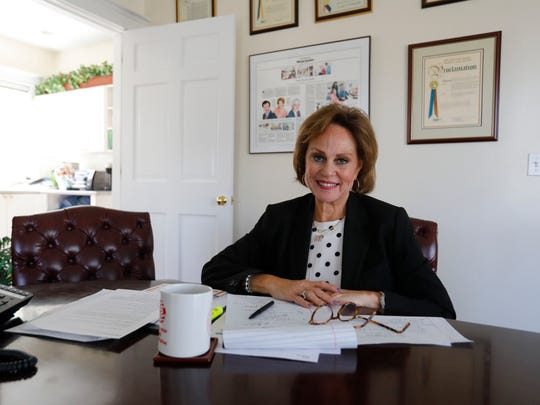 Elizabeth Bracken - Thompson, partner a partner at Thompson and Bender, at her office in Briarcliff Manor on May 1, 2018.