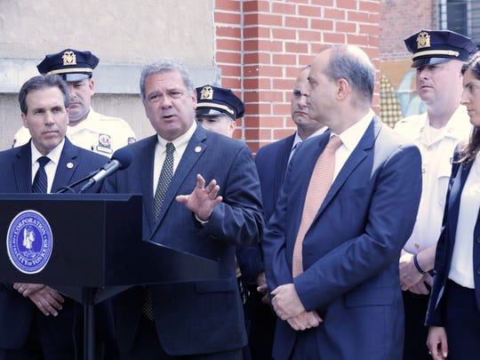 Yonkers Mayor Mike Spano and Police Commissioner Charles