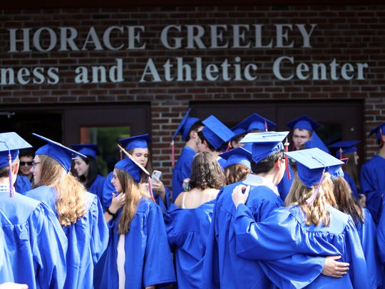 The 87th Horace Greeley High School graduation June 17, 2018 in Chappaqua.
