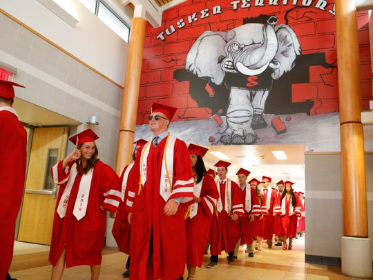 The Somers High School Class of 2018 commencement at