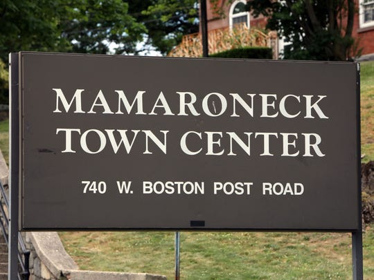 Mamaroneck Town Center sign June 20, 2018.