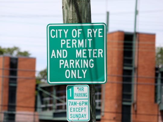 City of Rye parking sign June 20, 2018.